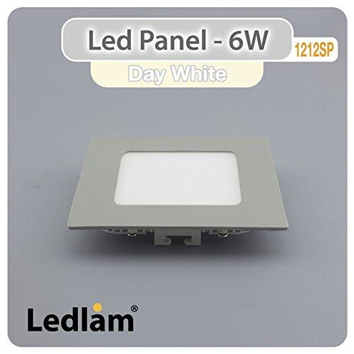 Preisvergleich Produktbild LED Panel silber quadratisch 12 x 12cm 6 Watt neutralweiß