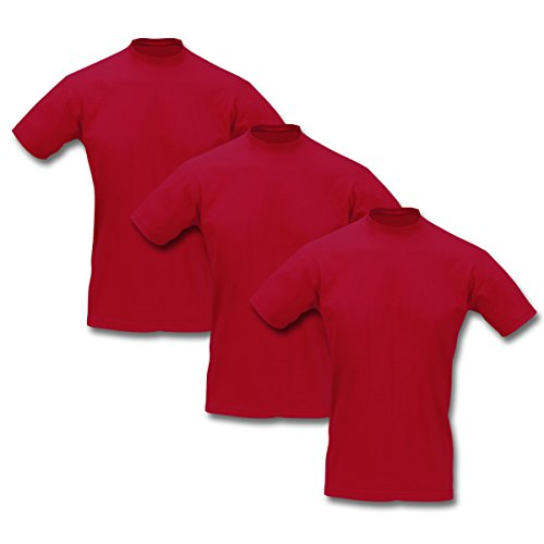T-Shirt 3er Pack Sol's Imperial 7 Farben S - 5XL Rot