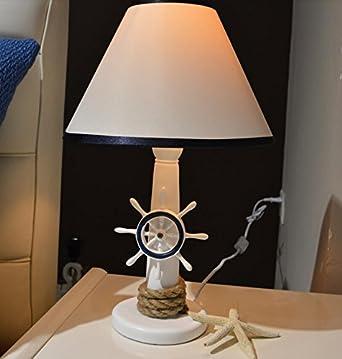 YU K Pastorale Mediterrane Cute Schlafzimmer Kind Harz Boot Anker  Tischleuchte Nachttisch Lampe 42 * 25 Cm, Schalter Des Helligkeitsreglers:  Amazon.de: ...