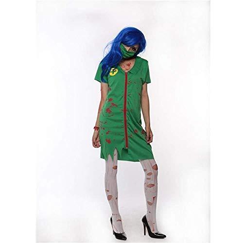 Kostüm Adult Krankenschwester Nacht - MKeDa Fashion-Cos1 Halloween Bloody Nurse Kostüm Horror Zombie Dress Mask Krankenschwester Uniform Dress Adult Ladies Fancy Dress Up