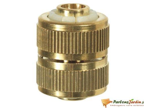 Raccord réparateur 100% laiton pour tuyau d'arrosage 15mm