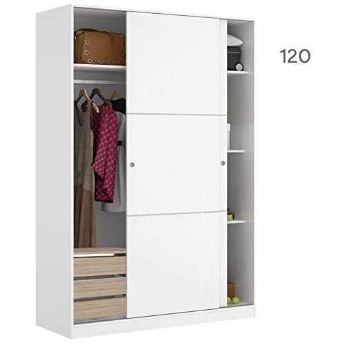 HABITMOBEL Armario Dormitorio 204 Altura con CAJONERA 2 Puertas correderas