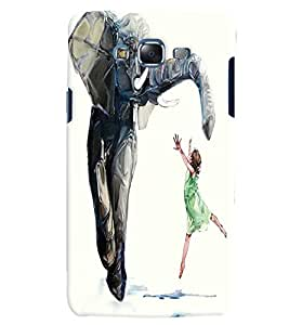 Citydreamz Elephant/Boy/Animals Hard Polycarbonate Designer Back Case Cover For Samsung Galaxy On5