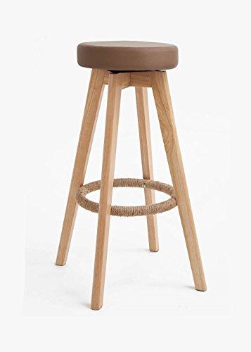 chaise de bar Chaise de table à tabourets de bar en style moderne, encadrement en bois rotatif en option, multicolore, en contrebas de tabourets en bois, taille: 35 * 73cm tabouret de cuisine