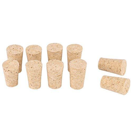 2 Arten 10 STÜCKE Weinkorken, natürliche Premium Holzkorken Konische Korken Holz Wein/Bier Flaschenverschluss für Weinherstellung Handwerk(22 * 17 * 35mm)
