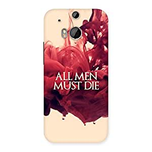 Neo World All Men Back Case Cover for HTC One M8