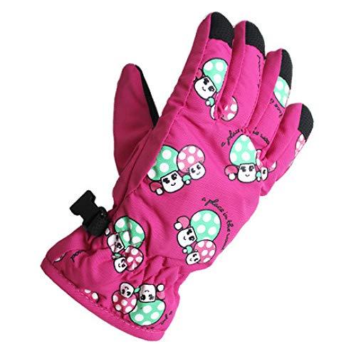 SUNHAO Kinderhandschuhe 2-5 Jahre alte Pilz-Skihandschuhe Jungen und Mädchen Cartoon Innenwärme kältebeständige Dicke Handschuhe