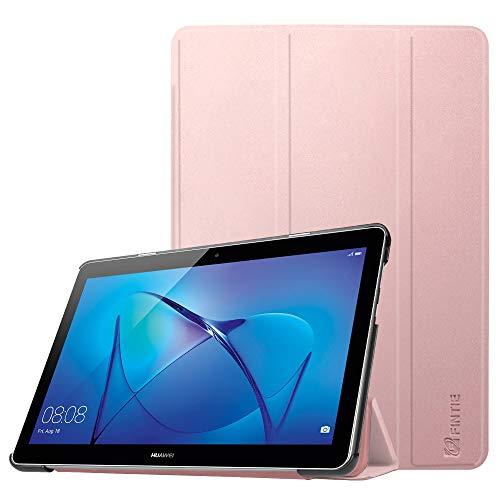 Fintie Huawei Mediapad T3 10 Hülle Case - Ultra Dünn Superleicht Flip Schutzhülle mit Zwei Einstellbarem Standfunktion für Huawei MediaPad T3 (9,6 Zoll) 24,3 cm Tablet-PC, Roségold
