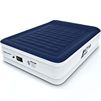 Active Era Luxury King Size Double Queen Air Bed - Elevated Inflatable Air Mattress, Electric Built-in Pump, Raised Pillow & Structured I-Beam Technology, Height 56cm 29