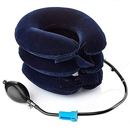 Scopri offerta per Cuscino Gonfiabile per Dispositivo di Trazione del Collo Allevia la barella Gonfiabile e Regolabile della Pressione del Collo (blu)