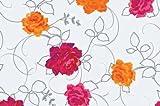 Schondecke Tischdecke transparent Rosendruck glasklar bedruckt Rosen Adrienne 140 Meterware