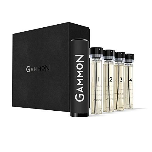GAMMON - Eau de Performance, MASTER-SET, 20 ml jedes GAMMON Duftes, Eau de Parfum für Herren/Mann, 4 x 20 ml