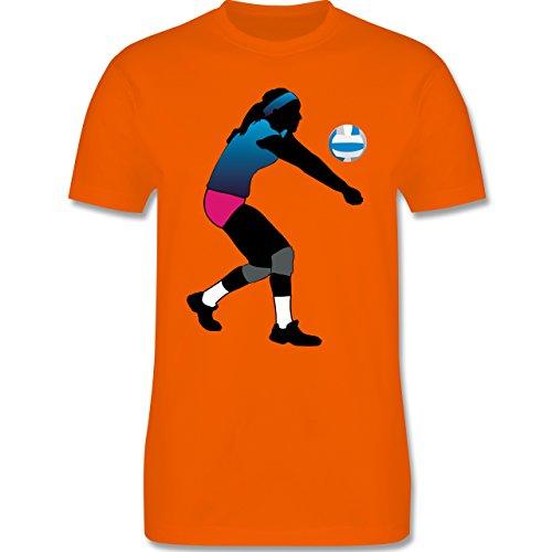 Volleyball - Volleyballspielerin Baggern - Herren Premium T-Shirt Orange