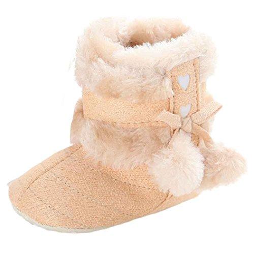 BZLine® Baby Kinder Mädchen Winterstiefel Boots Stiefel Krabbelschuhe Gelb