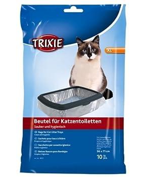 Trixie Bac À Litière Sacs XL jusqu'à 56 × 71 cm 10 x Packs De 6 - 60 Sacs - Pack Économique