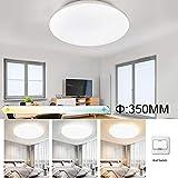 FSBMIN Lampada da soffitto (36W × 2) LED 8640LM Ø35cm, plafoniera da incasso dimmerabile per interni rotonda moderna dimmerabile, 3 colore (3000K/4000K/6500K), apparecchio per 25-50 metri quadri