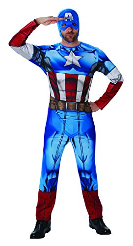 Rubies 3810845 - Captain America Marvel Univers Classic - Adult, Action Dress Ups und Zubehör, One Size (Captain America Halloween)