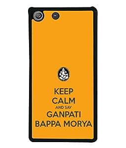 PrintVisa Say Ganpati Bappa Morya High Gloss Designer Back Case Cover for Sony Xperia M5 Dual :: Sony Xperia M5 E5633 E5643 E5663