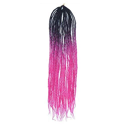Malloom Damen Damen lange Perücke Kostüm Cosplay Perücken Pop Party Kostüm, Frauen Farbverlauf Twist Crochet Zöpfe Perücken Extensions Kunsthaar ()