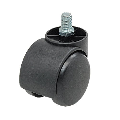 "SODIAL(R) Threaded Stem Connector Twin-wheel Black Chair Trolley Caster with 3/8"" Threaded Stem Test"