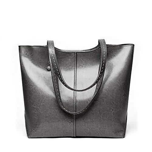 TUWEN Handtasche Leder Tasche FrüHling Sommer Weichen Leder Frau GroßE KapazitäT Lady Shopper Schulter Big-Bag -