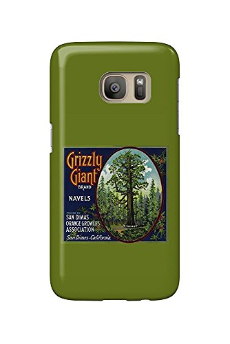 Grizzly Giant Orange - Vintage Crate Label (Galaxy S7 Cell Phone Case, Slim Barely There) - Orange Crate Label