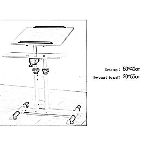 YZZG Schreibtisch, höhenverstellbares Laptop-Betttisch, tragbarer Stehschreibtisch, Notebook-Standbett Faltbarer Tisch Laptoptisch Mobiler Studentencomputer Schreibtisch Haushaltslifttisch Desktop St -