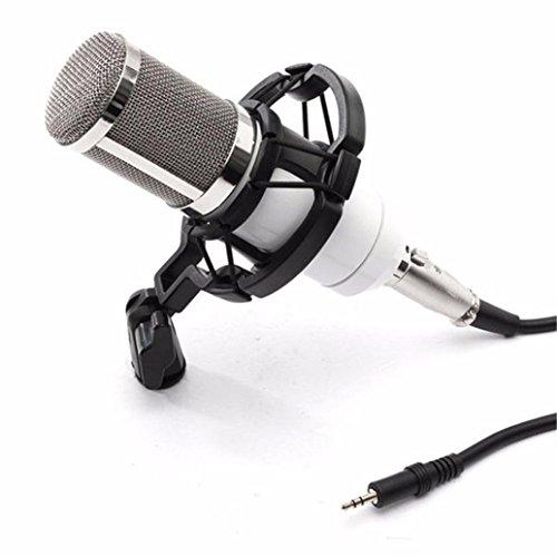 Preisvergleich Produktbild Kondensator Pro Audio BM800 Mikrofon mikrophon Sound Studio Dynamisches Mikrofon + Schockhalterung (Weiß)