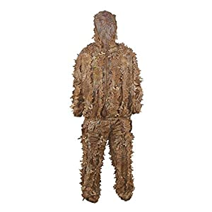 Ghillie Suit Adult 3D Leaves Bionic Sniper Camo Suits Army Military Clothes and Pants for Jungle Hunting Wargame Shooting Airsoft Wildlife Photography Halloween or Christmas Gifts With Carry Bag from XUE
