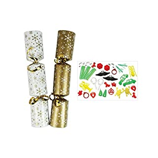 ALANNAHS ACCESSORIES 100 X 10 Christmas Catering Crackers Red Green White Gold Silver Noel