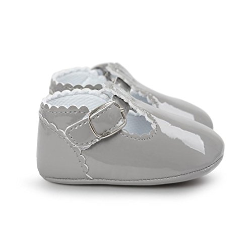 Saingace Baby Prinzessin Soft Sohle Schuhe Kleinkind Turnschuhe Freizeitschuhe Grau