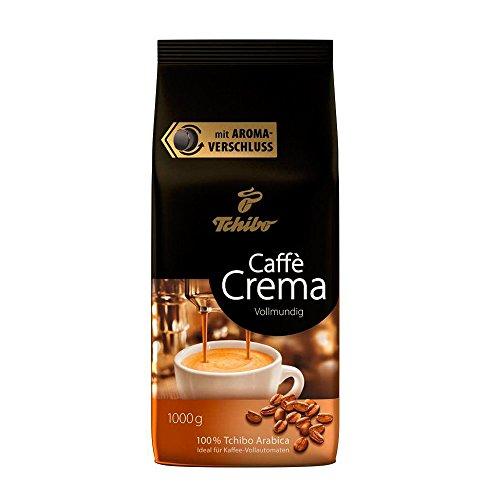 Tchibo Caffè Crema Vollmundig, 1kg ganze Bohne, Kaffee-Genuss für Vollautomaten, Siebträger