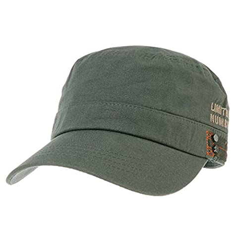 WITHMOONS Militaire Casquette de Baseball Cadet Cap Cotton Twill Side Embroidery Adjustable Hat CR4326 (Green)