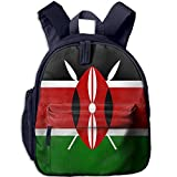 Flag of Kenya Kid and Toddler Student Backpack School Bag Super Bookbag