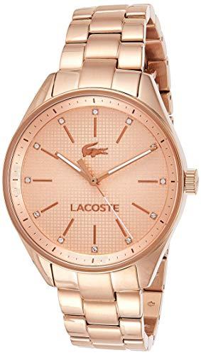 Lacoste Damen-Armbanduhr PHILADELPHIA Analog Quarz Edelstahl beschichtet roségold, 2000899