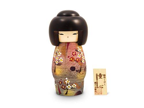 Kokeshi Doshin, original japanische Holz-Puppe, handgeschnitzt, von Hand bemalt. Kunst aus Japan für Dekoration, als Glücksbringer, Sammlerpuppe, Talisman. Geschenk SCHÖNER GEIST, 20,5 cm (Tag Mutter Ideen Der Der Handwerk)