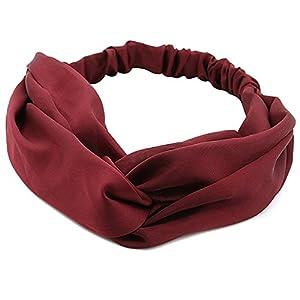 TININNA Damen Frauen Vintage Verdreht Elastisch Stirnbänder Stirnband Kopfband Haarband Turban Haar Bande Headwrap Haarschmuck