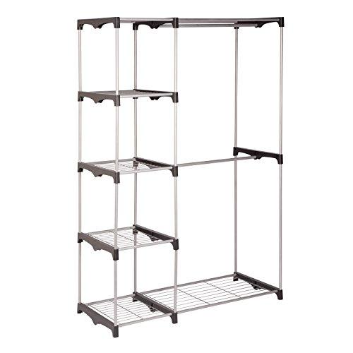 honey-can-do-wrd-02124doppia-canna-libera-installazione-armadio-in-acciaio-colore-nero-cromato-45x-1