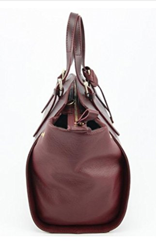 Superflybags Borsa A Spalla O A Mano In Vera Pelle modello Edwige Made In Italy Bordeaux