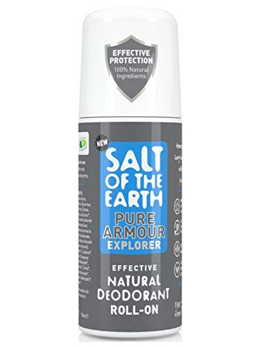 Salt of the Earth Pure Armour Explorer Natural Deodorant Roll-On For Men (75ml)