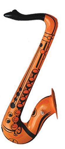 erdbeer-clown - Aufblasbares Sachsophon Sachsofon - Party Dekoration Musik Kostüm, 55cm, Orange (Gruselige Halloween-musik Online)