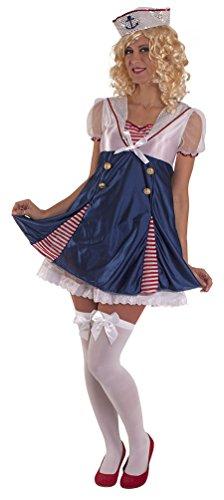 ,Karneval Klamotten' Kostüm Sexy Sailor Dame Karneval Matrose Damenkostüm Größe (Kostüm Marine Matrosen)