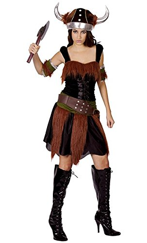 Ladies Viking Lady Costume for Historic Ancient Swedish Fancy Dress Outfit Adult by Partypackage Ltd (Viking Lady Kostüme)