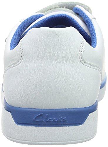 Clarks - JupiterHop Jnr, Scarpe da ginnastica Bambino Bianco (White Leather)