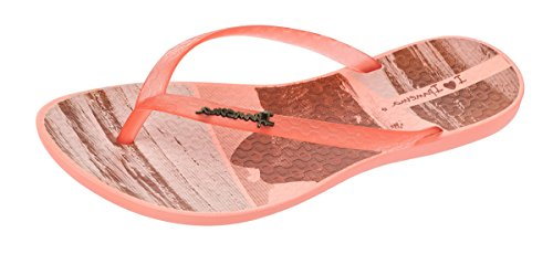 Ipanema Wave Tropical Frauen Flip Flops / Sandalen - Rosa Gold Orange