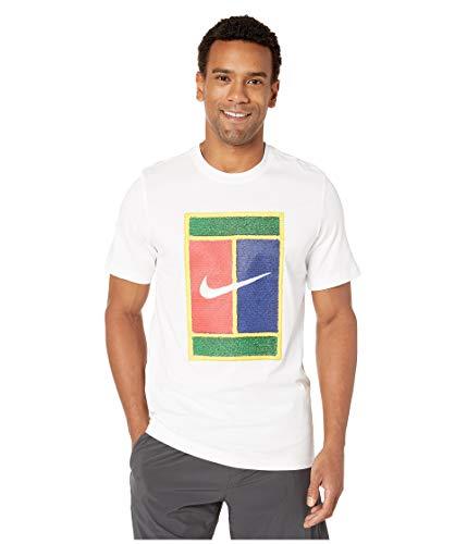 Nike Herren M NKCT Tee Court T-Shirt, White, - Shirt Tennis Nike