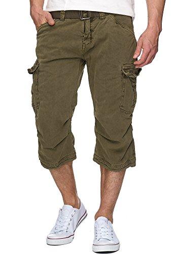 Cargo-jersey-shorts (INDICODE Herren Outdoor Cargo 3/4 Shorts Vintage Hose Bermuda Sommerhose Battlefield 70-128 Nicola Army XL)