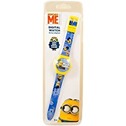 Minion Children's Quartz Watch Blue Yellow Minions Digital Date Wristwatch Boys Girls