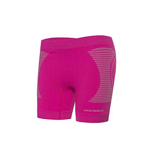 Prosske Damen Fitness Kurze Sport Hose DSHKU1 Atmungsaktiv viele Farben - Rosa, L