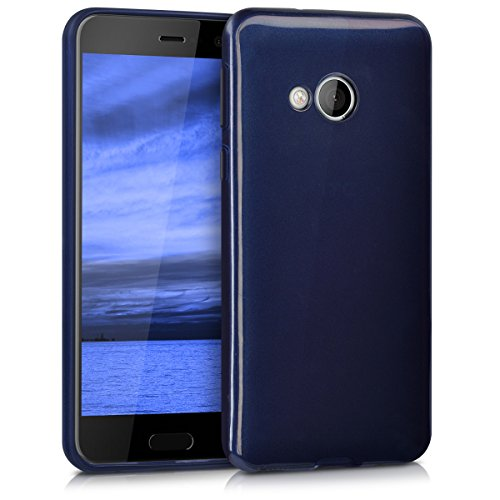 kwmobile HTC U Play Hülle - Handyhülle für HTC U Play - Handy Case in Hochglanz Blau